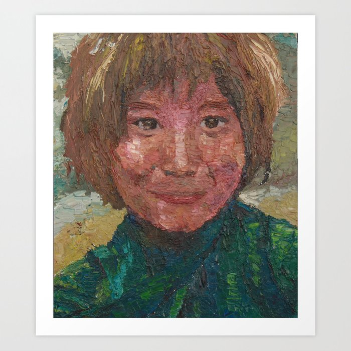 CHILD SMILING Art Print