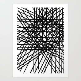 Grid Line Bulge Art Print