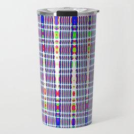 rhombus blue Travel Mug