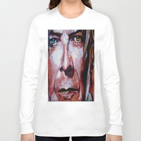 bowie Long Sleeve T-shirts featuring Bowie by Ray Stephenson
