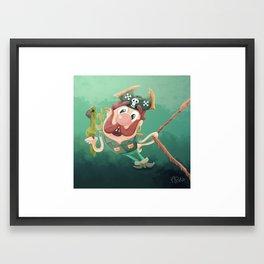 Barry the Buccaneer & his moody mate Cuckachoo Framed Art Print