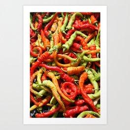 f53e2acdd Chilli peppers Art Print