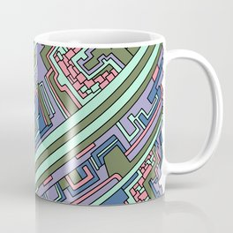 Wandering Abstract Line Art 28: Green Coffee Mug