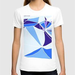 Blue mosaic Abstract artwork T-shirt
