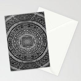Zentangle Mandala Black and White Stationery Cards