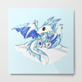 Baby Ice Wyvern Metal Print