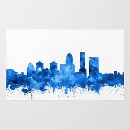 louisville skyline watercolor blue Rug