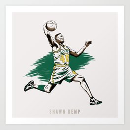 Shawn Kemp Art Print