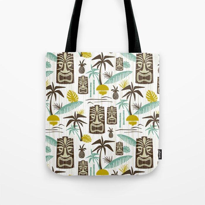Island Tiki - White Tote Bag