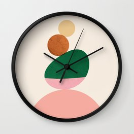 Abstraction_SHAPE_BALANCE_Minimalism_Art_01 Wall Clock