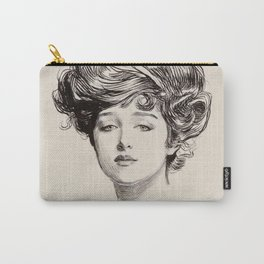 """Pencil drawing -Charles Dana Gibson """"The Gibson Girl"""". Carry-All Pouch"""