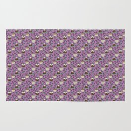 Figgy Plum Pudding Christmas Dessert Purple Repeat Rug