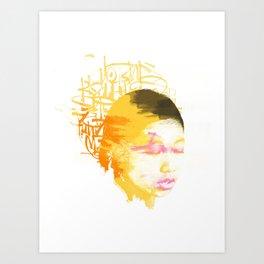 Kid and Colors Art Print