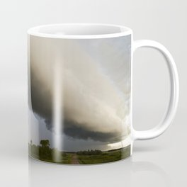 Shelf Cloud Over Country Road 3 Coffee Mug