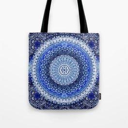 Cobalt Tapestry Mandala Tote Bag