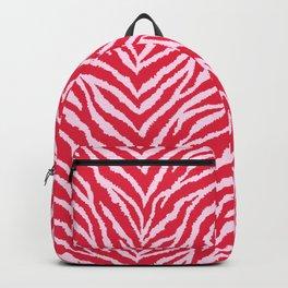 Red zebra fur texture Backpack