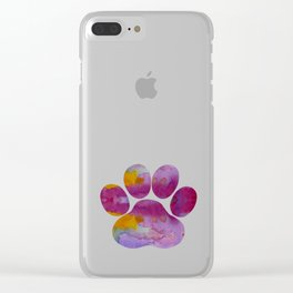 Dog Paw Clear iPhone Case