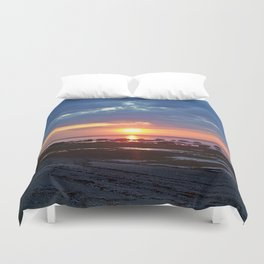 Sunset under Stormy Skies Duvet Cover