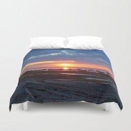 Sunset under Stormy Skies Duvet Cover