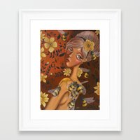 charmaine Framed Art Prints featuring Queen Bee by Charmaine D'Silva