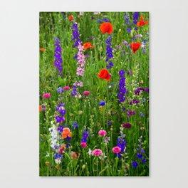 Close-up Wildflowers Canvas Print