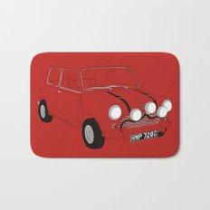 The Italian Job Red Mini Cooper Bath Mat