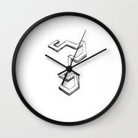 escher Wall Clocks featuring Finite Escher by Austin Call