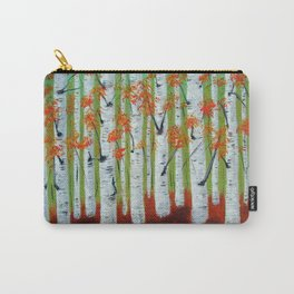 Atumn Birch trees - 5 Carry-All Pouch