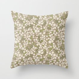 Jonquil Field Throw Pillow