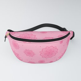 Feathered Mandala Pattern - Pink Fanny Pack