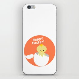Cute easter chick coming out of egg iPhone Skin