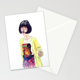 Fashion Illustration . Oriental Girl Stationery Cards