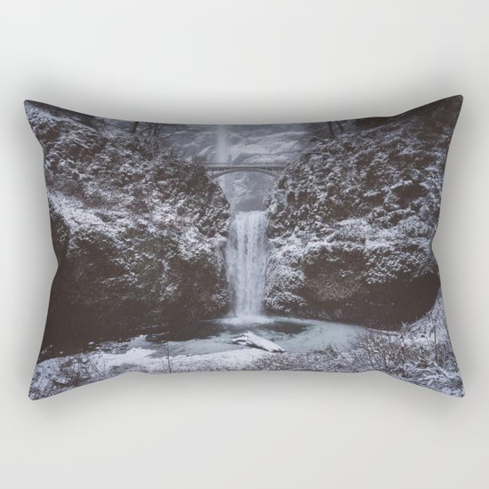 Winterland Waterfall #society6 Rectangular Pillow