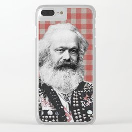Punk Marx Clear iPhone Case