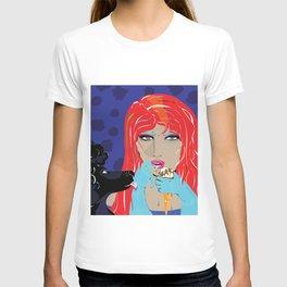 """Black Poodle"" Paulette Lust's Original, Contemporary, Whimsical, Colorful Art  T-shirt"