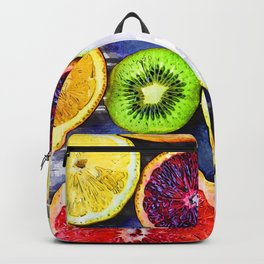 Colorful Citrus & Kiwi Club - For Fruit Lovers Backpack
