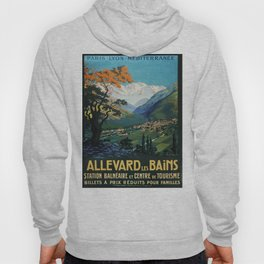Allevard Les Bains, French Travel Poster Hoody