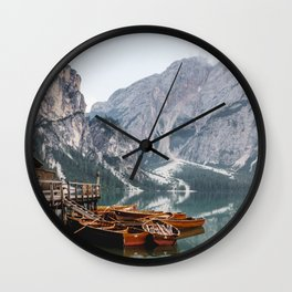 Day at the Mountain Lake Wall Clock
