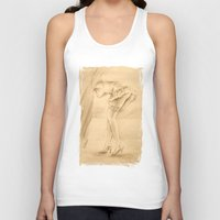 erotic Tank Tops featuring Erotic - Girl in lingerie by Marita Zacharias