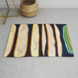 Green Cloud over Floating Shapes Rug