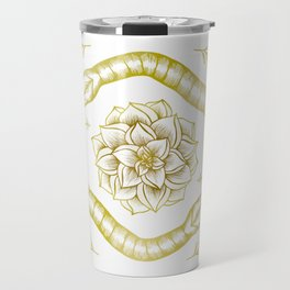 Golden Snakes Travel Mug