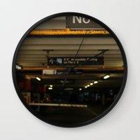 vans Wall Clocks featuring No Vans by Stephane Rangaya