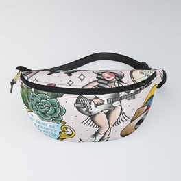 Pop Country Girl Tattoo Flash Fanny Pack