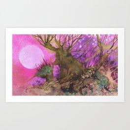 Bosc de Gleyhn al capvespre Art Print