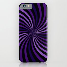 Purple Hypnotizing Swirl iPhone Case