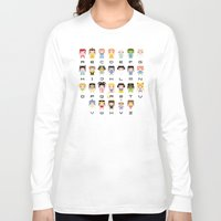 nausicaa Long Sleeve T-shirts featuring Princess Alphabet by PixelPower