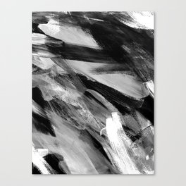 Abstract Artwork Greyscale #1 Canvas Print