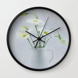 Simply Delightful Lisianthus Wall Clock