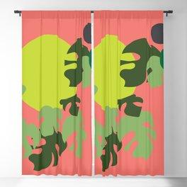 Retro jungle Blackout Curtain