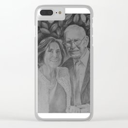 Wedding couple Clear iPhone Case
